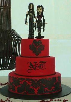 1000 Ideas About Gothic Wedding Cake On Pinterest