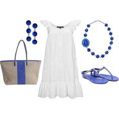 Grecian Blue Summer, created by glennadesigns.polyvore.com
