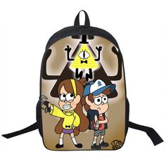 2015 cartoon Mabel Gravity Falls kids school bags girl shopping teenager backpacks for student boys Travel bags free shipping