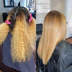 Pressed Natural Hair, Blonde Natural Hair, Blonde Hair Black Girls, Honey Blonde Hair, Natural Hair Tips, Natural Hair Styles, Black Girl Curly Hairstyles, Straight Hairstyles, Curly Hair Styles