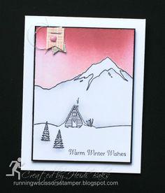 Stampin' Up Mountain Adventures by #RunningwScissorsStamper, Winter Memories, Sunday Stamps