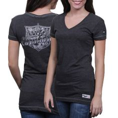 Chase Authentics Dale Earnhardt Women's Burnout Crest T-Shirt by Football Fanatics. $29.95. Chase Authentics Dale Earnhardt Womens Crest V-Neck T-Shirt - CharcoalApplique signature patch at bottom hemOfficially licensed NASCAR productRib-knit V-neck collarSlim fitContrast stitchingSheer accentsImported50% Cotton/50% Polyester50% Cotton/50% PolyesterRib-knit V-neck collarApplique signature patch at bottom hemContrast stitchingSheer accentsSlim fitImportedOfficially licen...