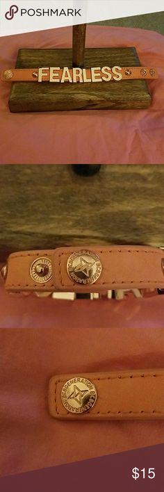 "BCB GENERATION "" FEARLESS"" Snap bracelet Adjustable snap bracelet. Leather BCBGeneration Jewelry Bracelets"