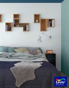 Blues are known to be calming and restorative, so what better hue for your bedroom? Try Luna Landscape 3 on a feature wall next to Pure Brilliant White for a soothing way to wake up every day. Romantic Bedroom Decor, Diy Home Decor Bedroom, Budget Bedroom, Bedroom Ideas, Light Pink Bedrooms, Bedroom Wall Colors, Woman Bedroom, Closet Bedroom, Master Bedroom