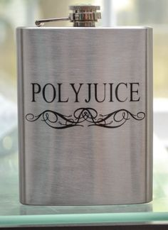 Harry Potter Polyjuice flask - I need this in my life. It would go nicely with my TARDIS flask from Avery Fernandez Objet Harry Potter, Harry Potter Love, Geeks, Hogwarts, Must Be A Weasley, No Muggles, Fandoms, Take My Money, Mischief Managed