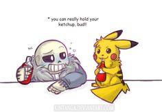 .Undertale/Pokemon: Best drinking buddy.+ by Kintanga