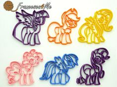 My Little Pony Cookie Cutters Set of 6-Multi-Size by Francesca4me