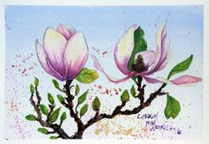 Hi friends! Today I will show you how to paint this pretty magnolia: I teamed up with Snapfish to come up with a fun way to showcase artwork. I'm sure you know what a good job Snapfish does w…