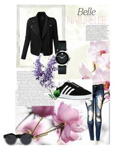 """set 14"" by nudzi-ded ❤ liked on Polyvore featuring LE3NO, Movado, adidas, Le Specs and Polaroid"