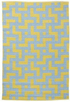 Rugs - Medievil Area Rug in Sage and Mustard | Burke Decor - blue and green area rug, geometric area rug, reversible geometric area rug,