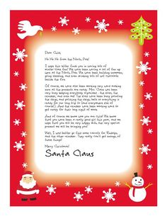 Is your little person waiting to hear from Santa? We can help you with printable Letters from Santa!! || Letters from Santa || www.easyfreesantaletter.com