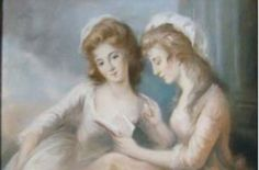 Mary and Elizabeth Beauclerk by Diana Beaucerk, their mother (location unknown to gogm) Spencer Family, Mary Elizabeth, Lady Diana, British History, Great Artists, The Past, Color Portrait, Face, Georgian