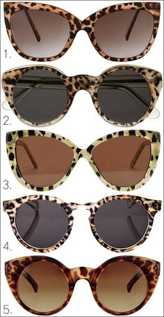 Fun leopard print trend - similar to tortoise but with more MEOW factor
