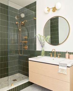 Bathroom decor for the master bathroom remodel. Learn master bathroom organization, bathroom decor ideas, master bathroom tile some ideas, master bathroom paint colors, and much more. Bathroom Inspo, Bathroom Inspiration, Bathroom Sconces, Bathroom Green, Bathroom Cabinets, Bathroom Trends, Bathroom Beadboard, Neutral Bathroom, Boho Bathroom