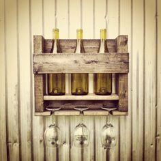 Wood Wine Rack Wine Storage Hanging Wine Rack by BoondockTreasures, $30.00
