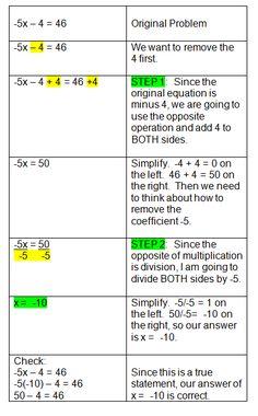 two step algebra equations