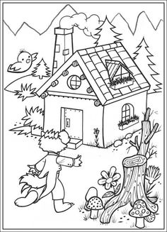 18 The three little pigs printable coloring pages for kids. Find on coloring-book thousands of coloring pages. House Colouring Pages, Coloring Pages For Girls, Disney Coloring Pages, Animal Coloring Pages, Coloring Pages To Print, Free Coloring Pages, Coloring For Kids, Printable Coloring Pages, Coloring Book Online
