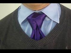 How to Tie The Merovingian StyleTrinity Necktie Knot - YouTube