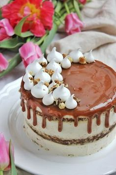 Fahéjas-narancsos-diós répatorta | Ízből tíz Vegetarian Recepies, Birtday Cake, Cake Recipes, Dessert Recipes, Torte Cake, Rainbow Food, Hungarian Recipes, Cakes And More, No Bake Desserts