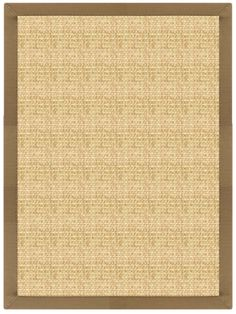 Sustainable Lifestyles Sand Sisal Rug with Canvas Adobe Brown Border