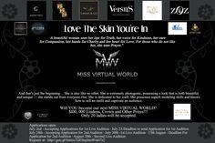 Miss Virtual World 2017 has begun..Join now.
