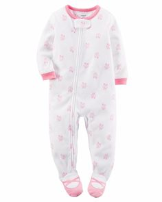 8ba939789 Ballerina Footed One Piece Fleece Pajamas Carter's baby Girl 24 months # Carters #OnePiece Pyjamas