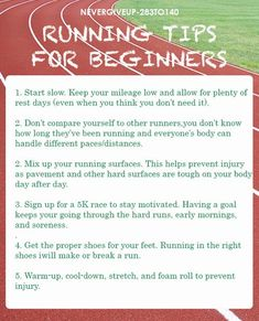 Running Tips for Beginners..because I'm not much of a runner
