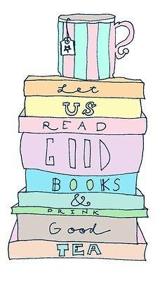 Read good books + drink good tea = the perfect recipe for  a good night's sleep      #bookishlove #love #booklove