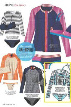 Featured in the June 2014 Issue of InStyle Magazine #rashguard #swimsuit #swimwear #Becca