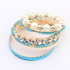GavoJewelry.com - Fashion Design Pearl Beads Crystal Multilayer Woman Bangle Bracelet,7 Colors, USD$6.99 (http://gavojewelry.com/fashion-design-pearl-beads-crystal-multilayer-woman-bangle-bracelet-7-colors/)