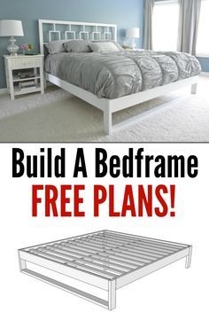 Build Your Own Bed Frame. Learn how with these free plans!