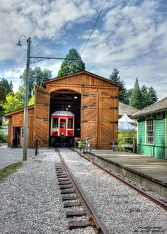 Burnaby Village Museum. Train station.
