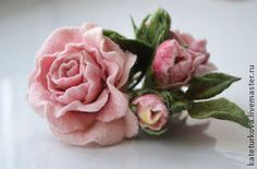"""Брошь """"Розовая прелесть"""" - роза,розочка,букетик роз,нежность,элегантность"""