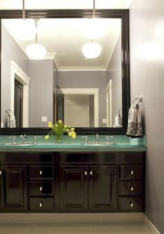 Glass Bathroom Vanity Countertop