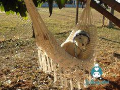 Crochet baby hammock. Rede em crochê