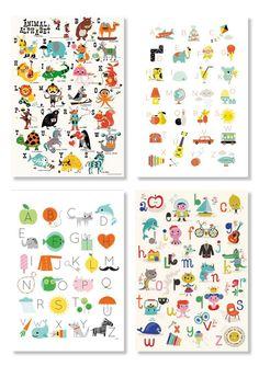 abc poster nederlands, kinderkamer, illustratie, poster, print