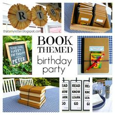 That's My Letter: book themed birthday party ideas