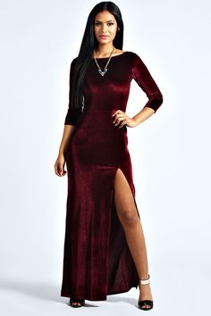 Kelly Velvet Long Sleeve Maxi Dress