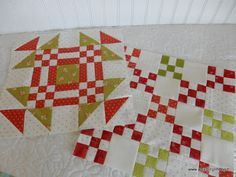 A Quilting Life - a quilt blog: More Red and Green Quilt Blocks