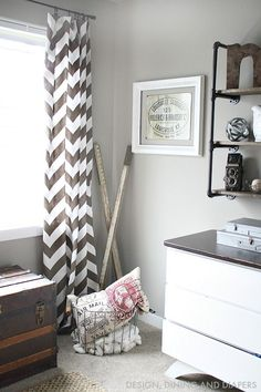 Brown and White Rustic Modern Boys Room