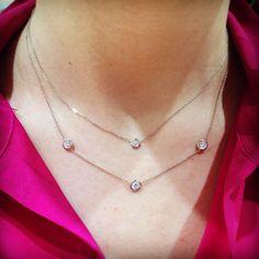 Every girl needs a simple diamond necklace.