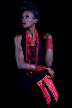 Kenyan, Adèle Dejak creates handmade fashion accessories made in Africa. Inspired by African shapes, textures and traditional techniques, the cutting-edge pieces sit perfectly between artifact and high fashion statement designs.