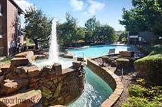 Extreme aqua elegance adorns the Copper Creek Apartments near Fort Worth.