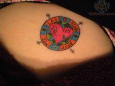 Lovely Poker Chip Tattoo