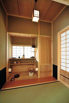 小間からも広間からも使いやすい位置に設けた水屋