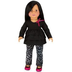 18 Inch Doll Clothing 2 Pc. Set Fits 18 Inch American Girl Doll Clothes & More! by Sophia's (Doll Shoes sold separately) Stylish Gray Animal Print Doll Jeans & Black Ruffled Long Sleeve Tee. Sophia's http://www.amazon.com/dp/B00CAV03A4/ref=cm_sw_r_pi_dp_KHvhwb131QAGC Harley (just outfit)