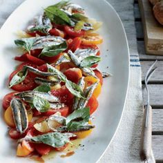 tomato-and-anchovy-salad-with-garlic-cream
