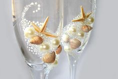 shells decoration ideas | Beautiful sea shell crafts, seashell candle holder and table ...