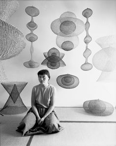 Ruth Asawa amid several of her works, November 1954; Nat Farbman / LIFE Picture Collection / Getty