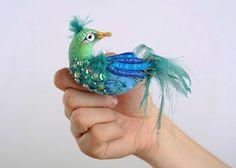 """Brooch """"Blue bird"""""""